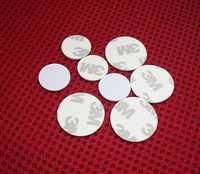 13.56 MHZ Ntag216 888 bajtów NFC Tag ISO14443A NFC karty monety z 3 M naklejki samoprzylepne (25mm) wspierać wszelkie funkcja NFC inteligentny telefon