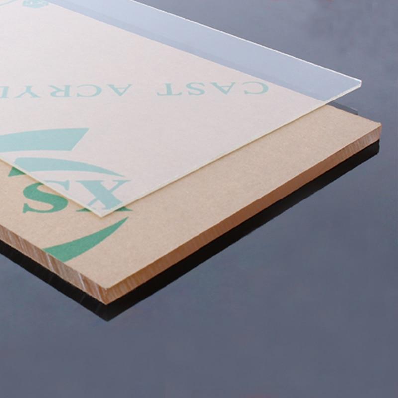 200x300mm Transparent Extruded Plexiglass Clear Plastic Sheet Acrylic Board Organic Glass Polymethyl Methacrylate 1mm 3mm 12mm