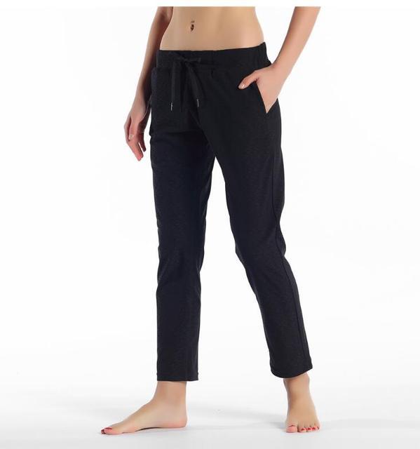 Leggings elásticos para mujer con cordón