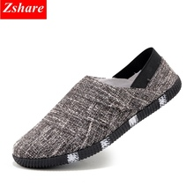 2019 Fashion Canvas Mens Shoes Casual Men Loafers Slip on Shoes Summer Breathable Light Driving Shoes Men Flats Chaussures homme