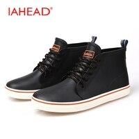 Hombres Botas Para Hombre de Goma Botas de Lluvia De Goma Suave Zapatos de Los Hombres de Moda Con Cordones de Botas De Seguridad botas de Invierno masculino MH514