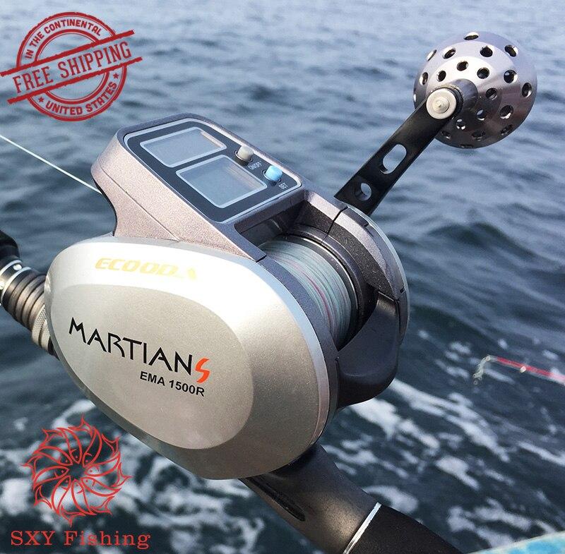 SXY Рыбалка Бесплатная доставка ema1500 Электрический рассчитывать колесо приманкой литье Троллинг колеса двойной источника питания катушка Р