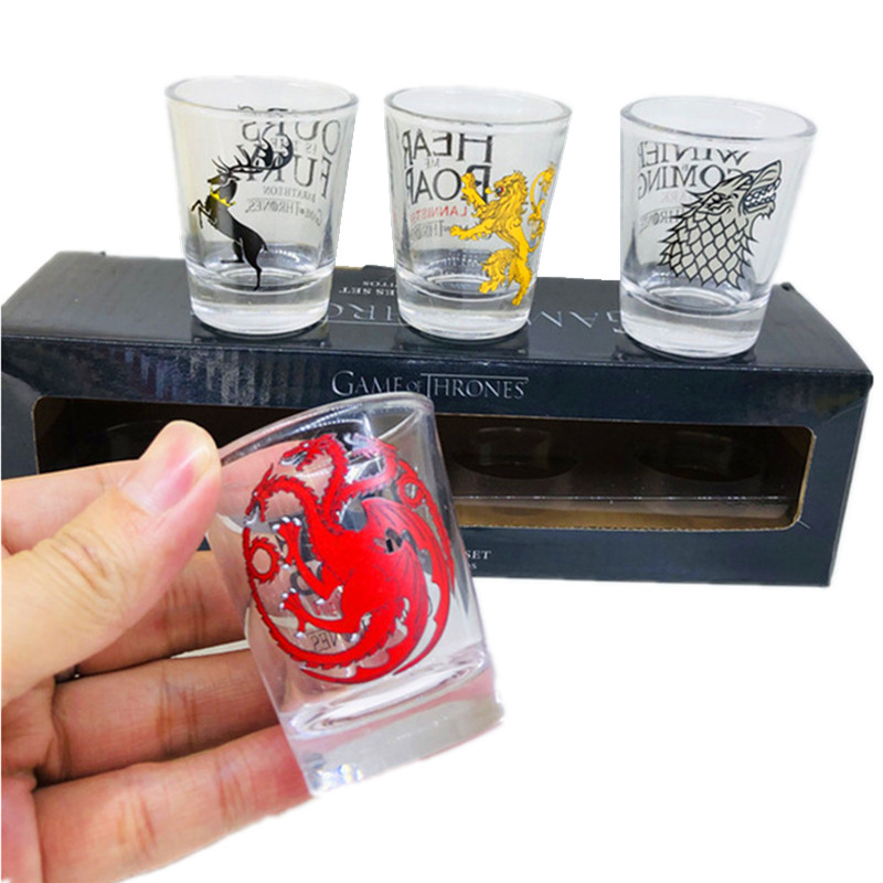 Игра престолов бокалы виски Набор бокалов для вина маленькие чашки и кружки креативные посуда для напитков огонь и кровь 11