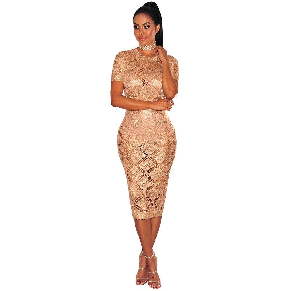 HTB18qFpSpXXXXbfaXXXq6xXFXXXi - 2018 Latest Summer Sexy Dress Rose Gold Knitted Nightclub Party Dresses Women Short Sleeve Fashion Casual Dress