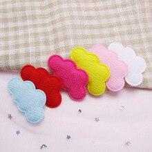 60 шт./партия, 4,5*2,5 см, многоцветные фетровые аппликации с облачной подкладкой для самостоятельного изготовления детских головных уборов, аксессуары