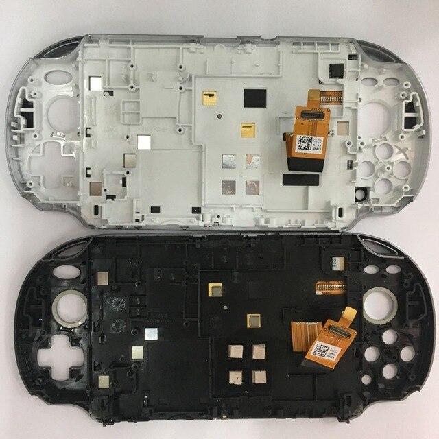 Nuovo bianco nuovo nero Per PSVita 1000 per PS Vita PSV 1000 Display LCD con Digitale Dello Schermo di Tocco di Montaggio con telaio