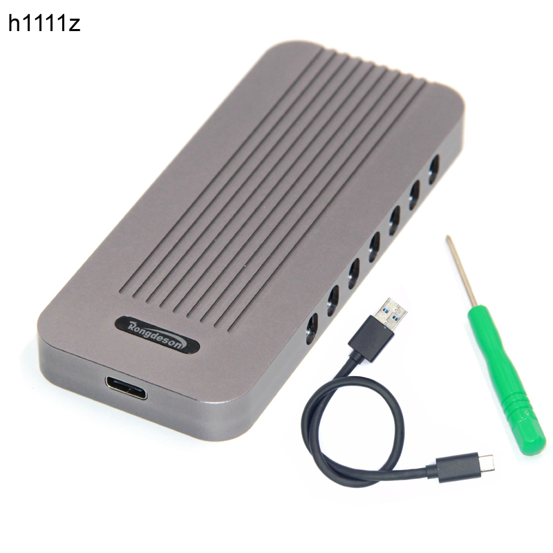 USB3.1 Type C NVMe SSD boîtier adaptateur M connecteur de clé M.2 NGFF vers USB 3.1 convertisseur disque dur boîtier HDD boîtier en aluminium HDD