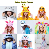 Cartoon Cosplay Pikachu Totoro Unicorn Doraemon Unisex Adult Pajamas Kigurumi Animal Pajamas Fits For Height 148