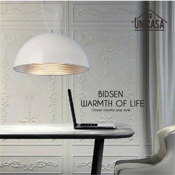 White Shade Wrought Iron Lighting Fixtures Modern Pendant Lights Kitchen Island Office Hotel Antique Mini Pendant Ceiling Lamp