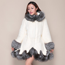Plus Size 4XL Luxury Women's Winter Coat Of Faux Fur Coats Hat Fur Jacket Winter Women Speaker Sleeve Especially Female Fur Coat