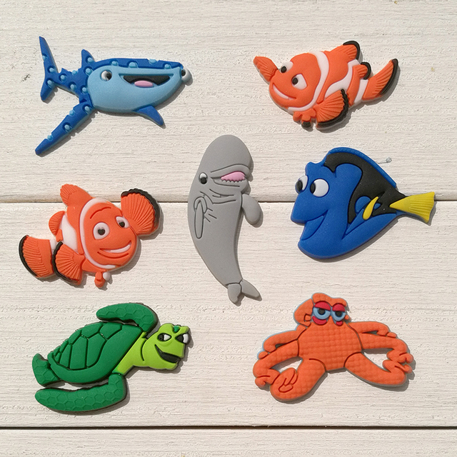 3e22e67e08b4 Novelty 7PCS Finding Nemo PVC Shoe Charms Accessories fit Croc Bracelets  with holes PVC Shoe Decoractions Kids Gifts Favors