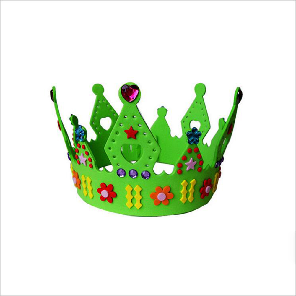 Tool Parts New 1 Pcs Eva Foam Birthday Party Hat Caps Crown For Children Self-adhesive Diy Handmade 3d Eva Crown Craft Kits