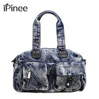 iPinee Denim Handbags Large Women Messenger Bags Purses Jean Bags Women Hobos Ladies Travel Hand Bags Tote Cross Body Bag