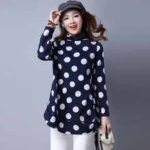 2016 Autumn and Winter Women's New Large Size Thin High Point In The Long Wave The Shirt Jacket and Plus Size Shirt