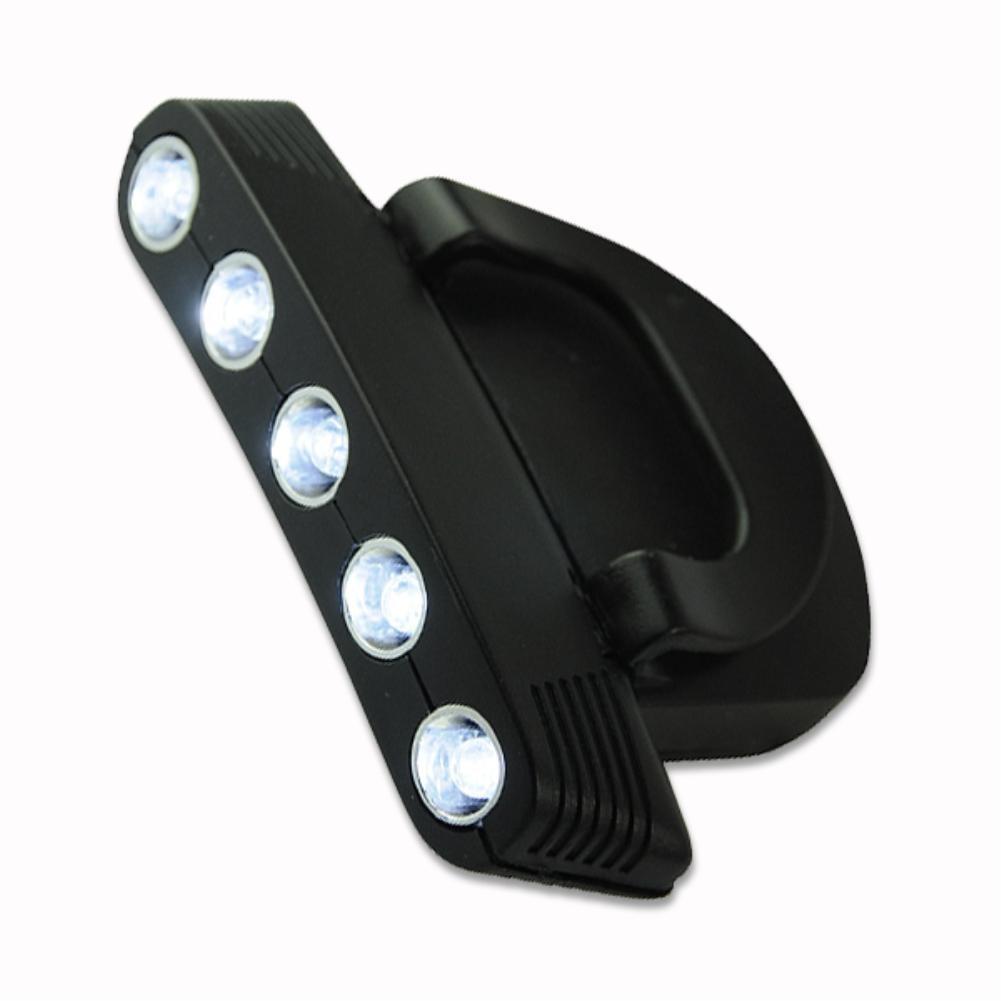 5 LED Headlamp Cap Light Adjustabe Clip-on Hat Light Hands Free Bright Head Lamp Lanterna Camping Cycling +2PCS CR2032 Batteries