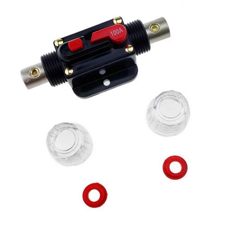 100A Auto Audio System Schutz Circuit Breaker Reset Sicherung Inverter Auto Schutz Stereo Schalter Sicherung Halter Inline YAN88
