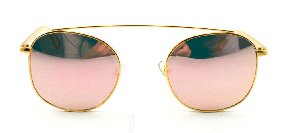 Concise Oval Retro Sunglasses Women Brand Designer Vintage Metal Sun Glasses UV400 Shades Oculos font b