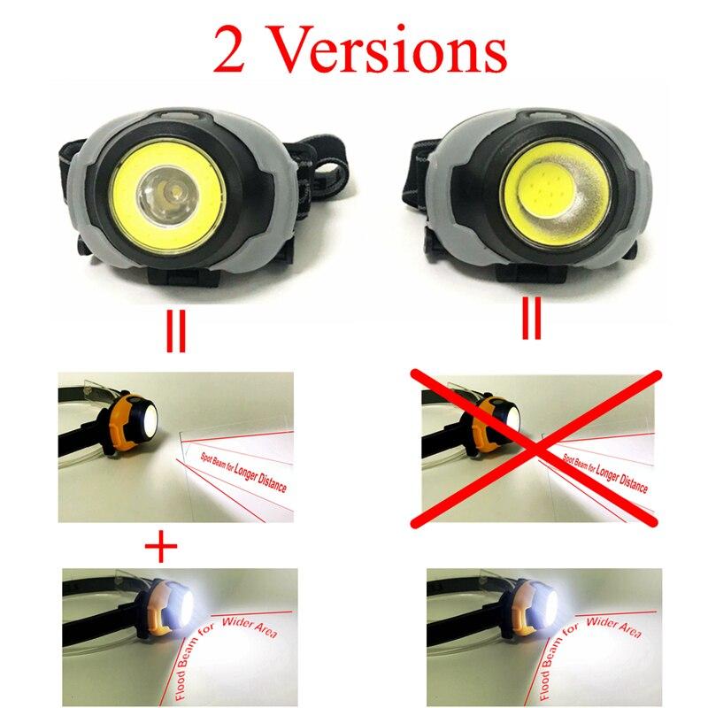 Image 4 - MingRay Mini COB Headlamp 3 W powerful led Headlight waterproof Flashlight on head for camping fishing ridding lamp lantern-in Headlamps from Lights & Lighting