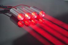 שומן קרן 660nm אדום 130mW לייזר דיודה מודול עבור KTV בר DJ שלב מועדון תאורה
