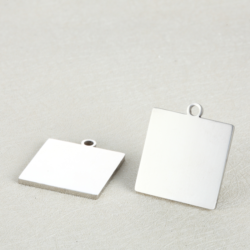 MYLONGINGCHARM 10pcs Square Charms Tags  Engravable Stainless Steel Charm Custom your Logo Words Images 19x19mm 22x22mm G2508MYLONGINGCHARM 10pcs Square Charms Tags  Engravable Stainless Steel Charm Custom your Logo Words Images 19x19mm 22x22mm G2508