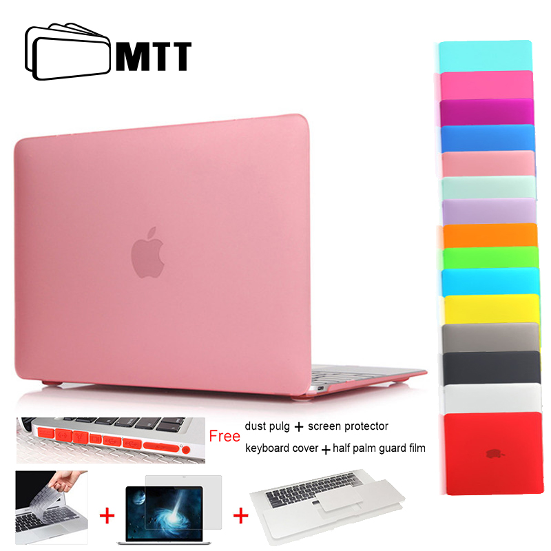 2015 Matte Laptop Case New Air 11 13 For Macbook Pro Retina 12 13 15 For Macbook Air 11 13 Case Keyboard Cover+Palm Shield Film