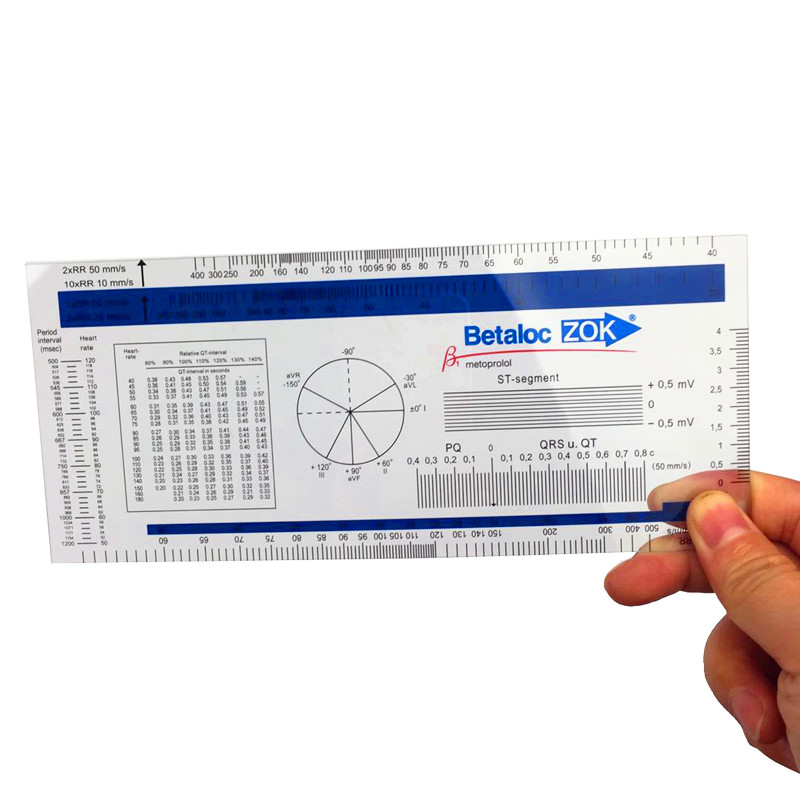 1pcs  ECG Ruler ECG Goniometer Medical Ruler Stock Goods Cheapest Price!
