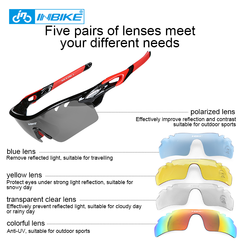 c8fb71c704 Cycling Glasses Men Women Polarized Bike Eyewear Bicycle Goggles Outdoor Sports  Bicycle Sunglasses Goggles 5 Groups of Lenses-in Cycling Eyewear from Sports  ...