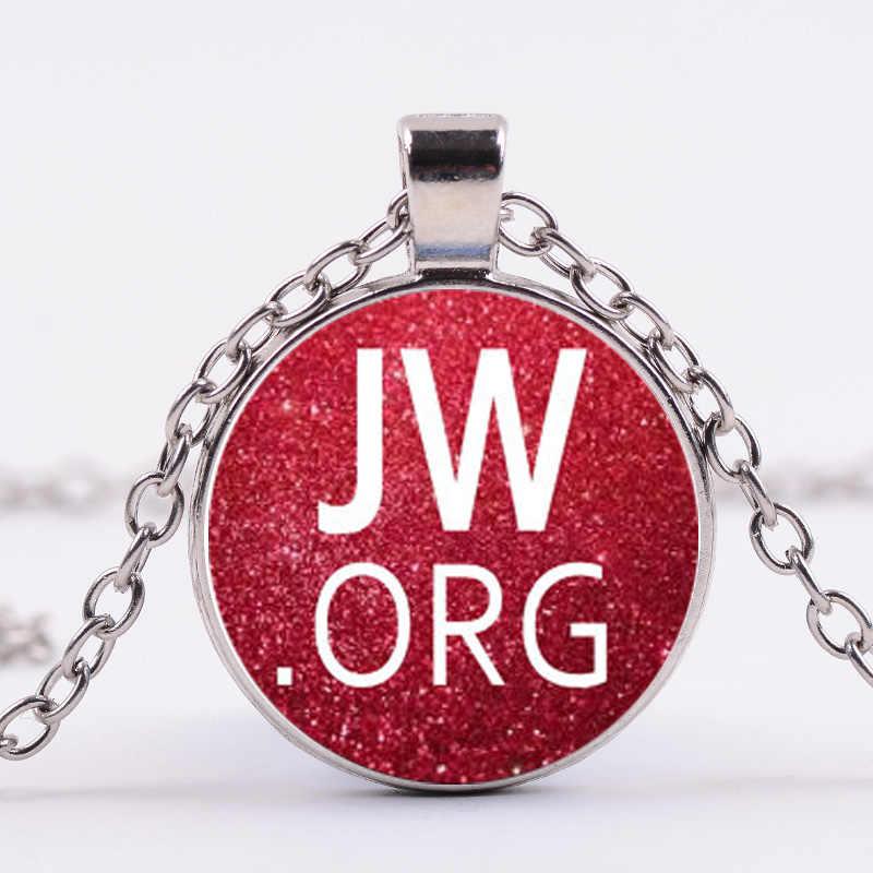 SIAN jovah es mi refugio JW. joyería de fe para miembros de hombres de cristal con colgante de letra Simple para testigos de jovah