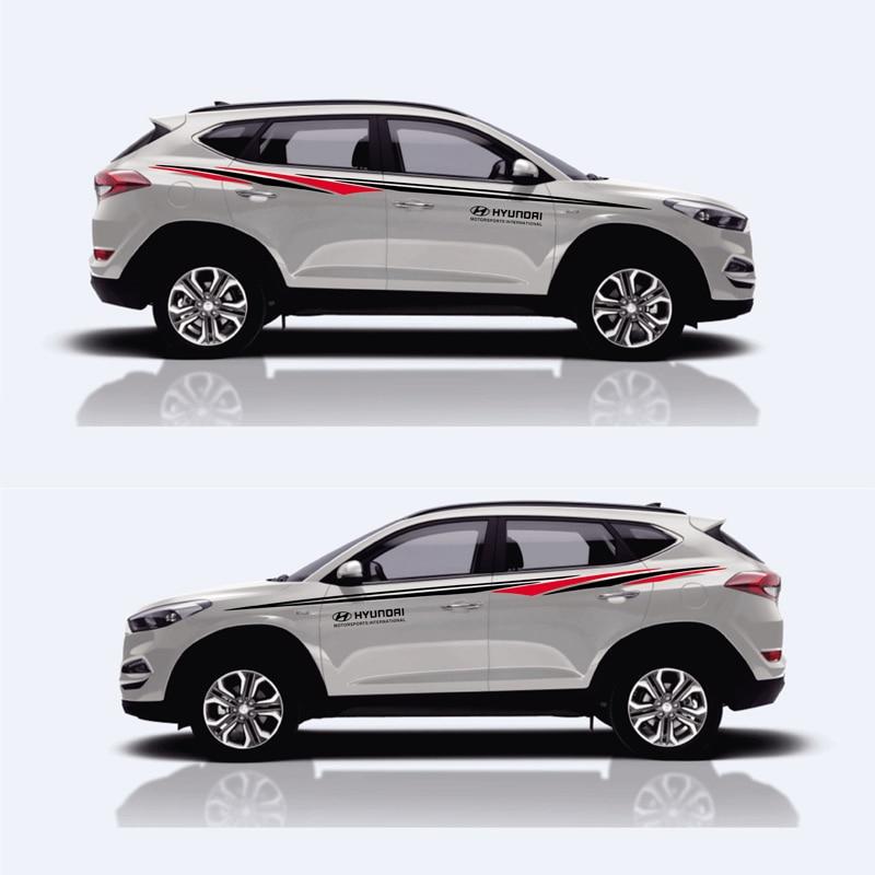 TAIYAO car styling sport autocollant de voiture Pour Hyundai SANTAFE IX35 Tucson Mark Levinson voiture accessoires et stickers auto autocollant
