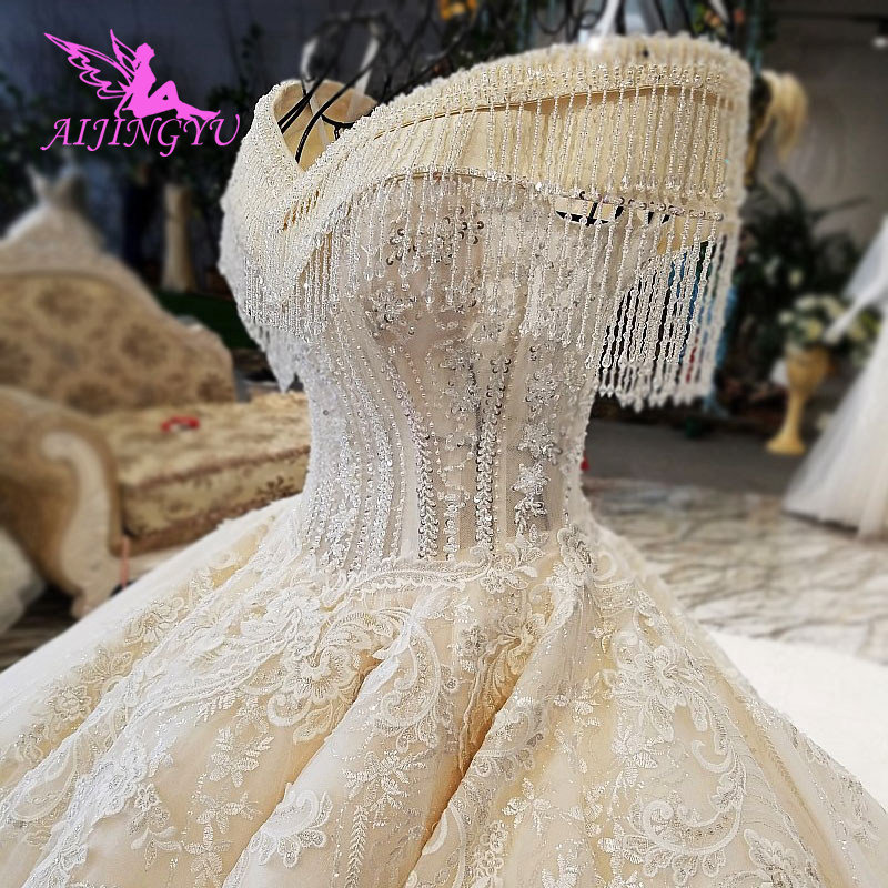 AIJINGYU Wedding-Dresses Store Mexican Princess Frocks Summer Real-Sample Luxury