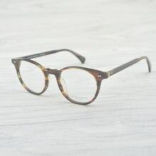 d2e2d7f43c16e5 Vintage Ovale Lunettes Rondes Cadre oliver Delray OV5318 hommes femmes  Lunettes Optique Cadre Oculos De Grau Lunette De Vue