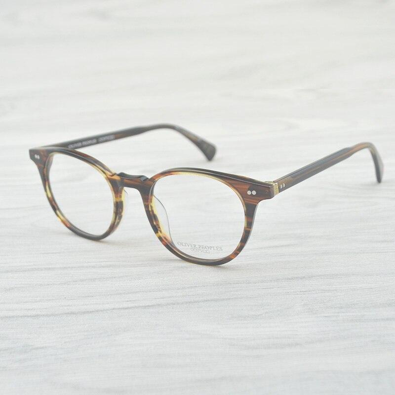 Vintage ovale rond lunettes cadre Delray OV5318 hommes/femmes lunettes optique cadre Oculos De Grau Lunette De Vue