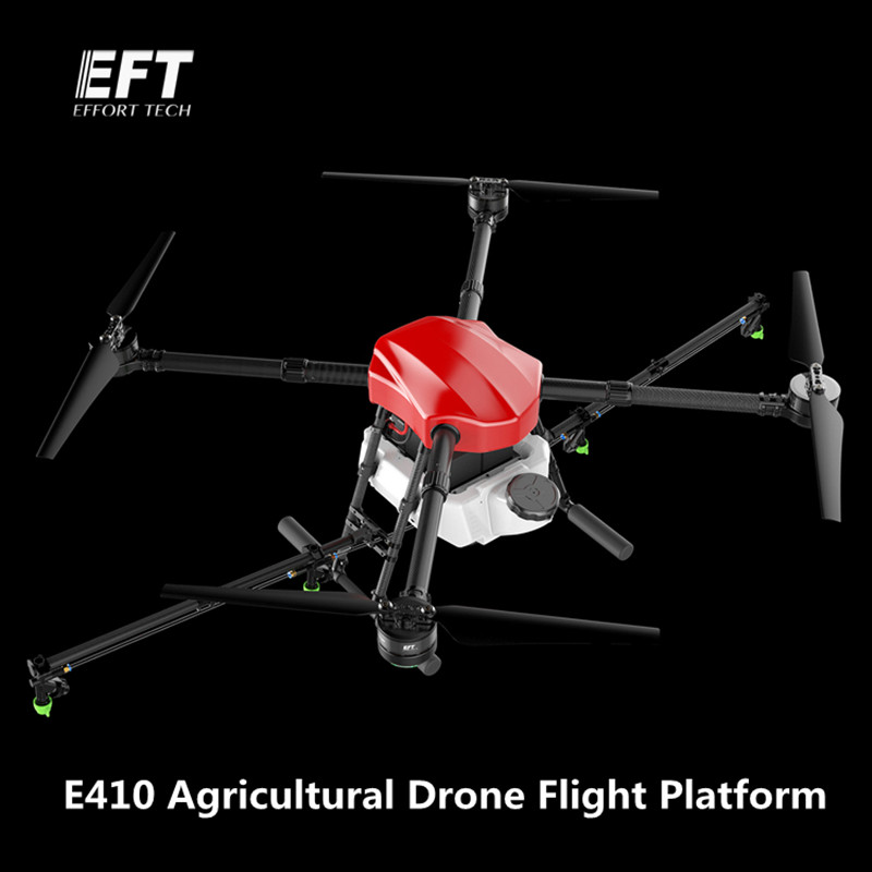 EFT E410 1300mm Wheelbase waterproof agricultural spraying drone flight platform 10KG/10L Folding UAV 4-axis Spray Quadcopter