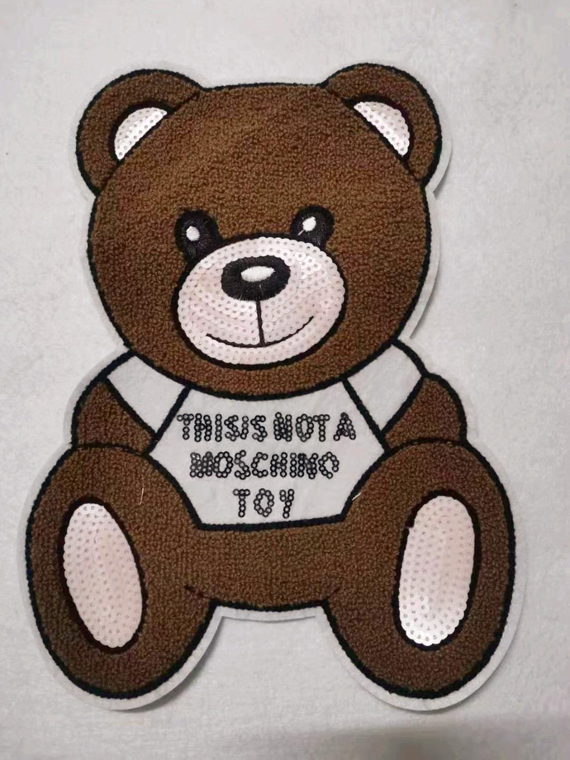 Diy Cartoon Big Pearl Bear Cloth Patch Patch Clothing Hoodie Coat Decoration Knapsack Applique Patch Cloth Embroidery