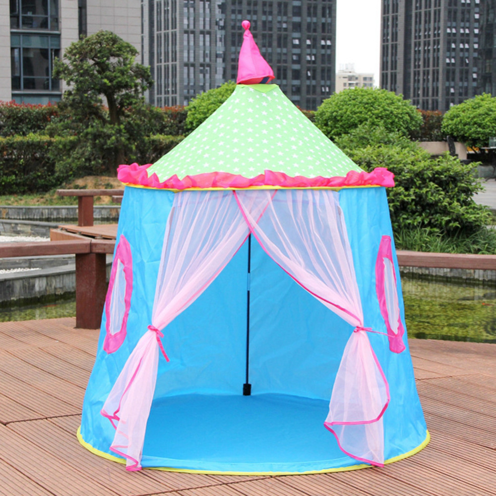 Children Tents Educational Cloth Room Foldable Indoor Ger Outdoor Princess Playhouse Foldable camping toy Tent Children Castle foldable play tent kids children boy girl castle cubby play house bithday christmas gifts outdoor indoor tents