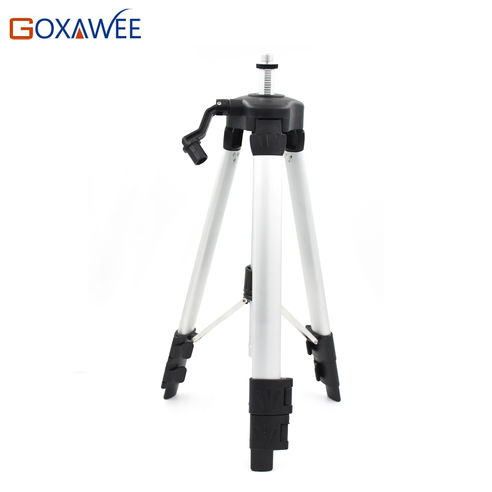 GOXAWEE 120cm Laser Level Tripod Nivel Laser Tripod  Infrared Level / Cross Line Laser Level Color COATED Aluminum Tripod kapro clamp type high precision infrared light level laser level line marking the investment line