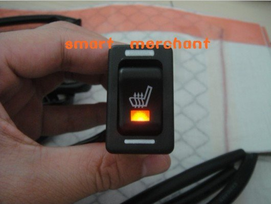 whole sale,20Pcs per lot,DHL free,rocker switch  carbon fibre seat heating system. high-low and medium positions