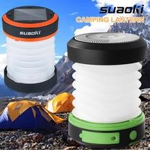 Suaoki кемпинг светодиодный фонарь USB и солнечной аккумуляторная складной свет мини-фонарик torch light водонепроницаемый фонарь для кемпинга
