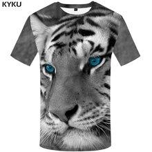 KYKU Tiger T shirt Women Gray Clothing Animal 3d T-shirt Shirts Clothes Tops Womens 2018 Funny Summer Chinese