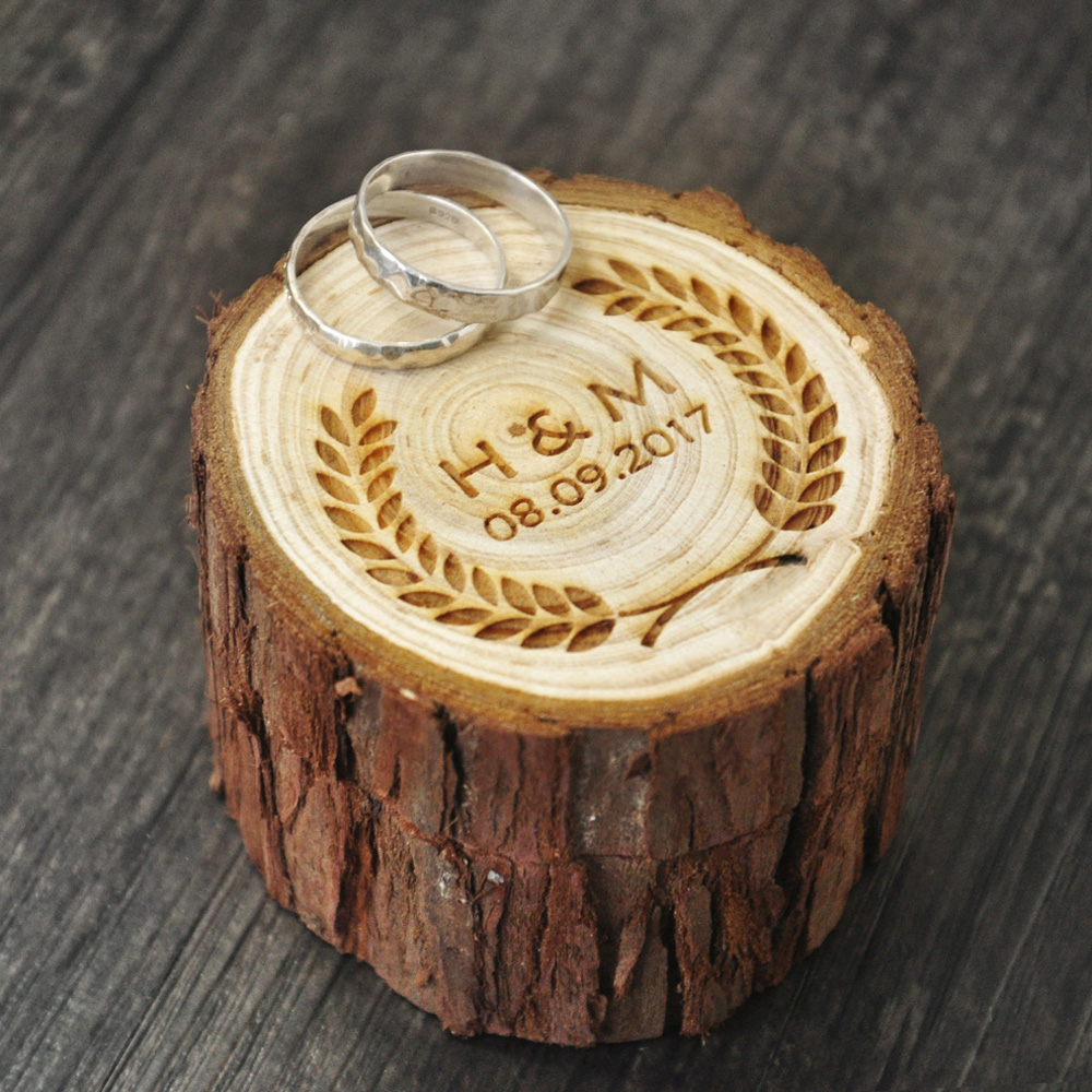 Custom Ring Box wedding valentines wooden ring box Wood Anniversary Ring Box 4 styles Rustic pillow box