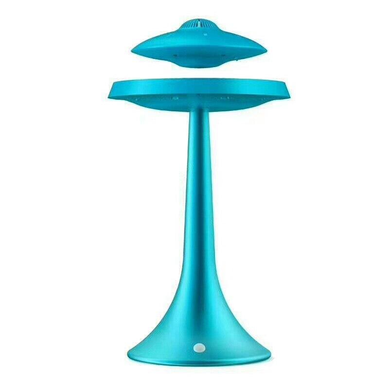 Новинка НЛО Магнитная подвеска Смарт Bluetooth динамик настольная лампа изменение цвета RechargeWireless левитирующий Bluetooth Настольный светильник - 3