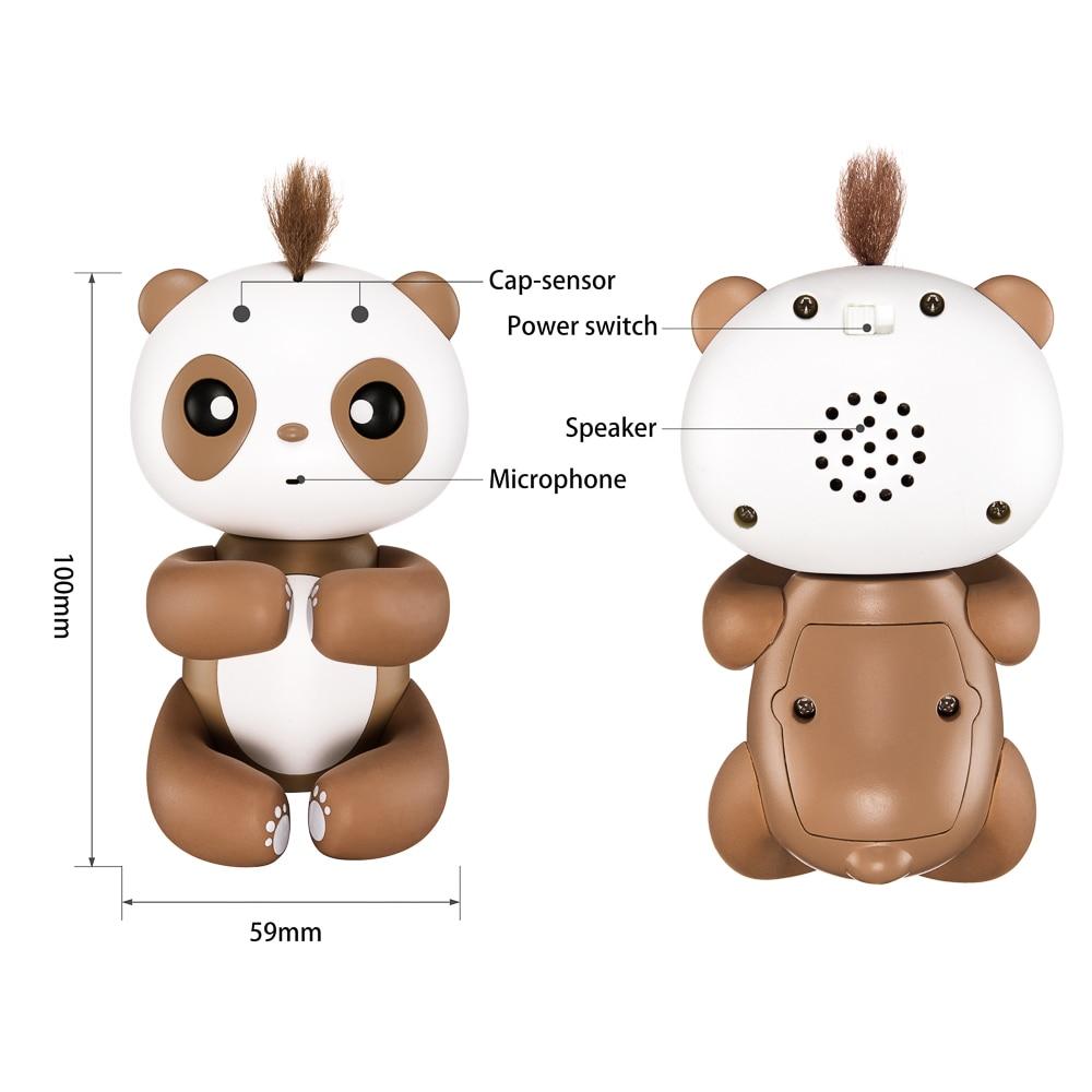 finger panda Cute Smart Finger Baby Monkey interactive Finger Monkey Electronic Pets kawaii Toys For Children christmas gift