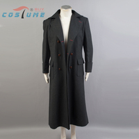 Sherlock Holmes Coat Cosplay Costume Men Winter Warm Cape Halloween Wool Version