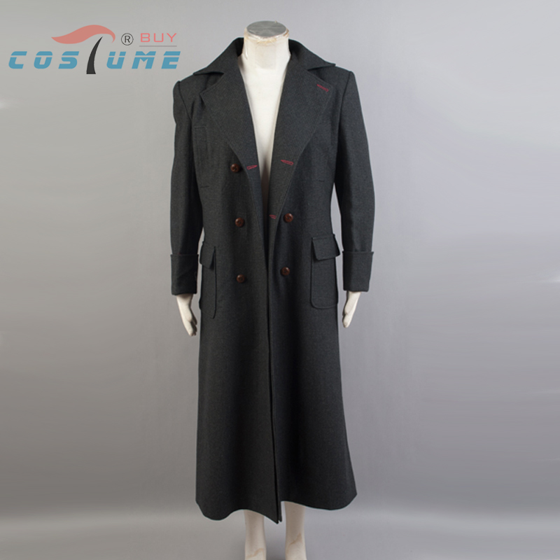 Sherlock Holmes Manteau Cosplay Costume Hommes Hiver Chaud Cape Halloween Laine Version