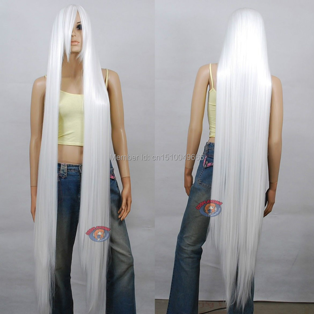 FREE SHIP>>>A2351357 150cm Extra Long White Cosplay Wig - 60 Inch High Temp - CosplayDNA Wigs
