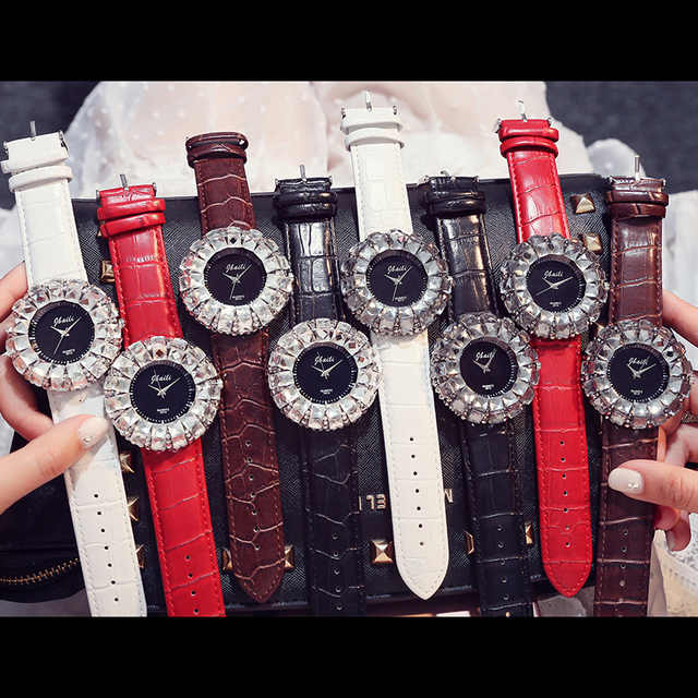Glitter White Rhinestone Watch