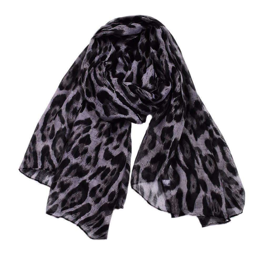 new  Women/'s Long Soft Black /&White Polka Dot Chiffon Scarf Wrap Shawl Stole