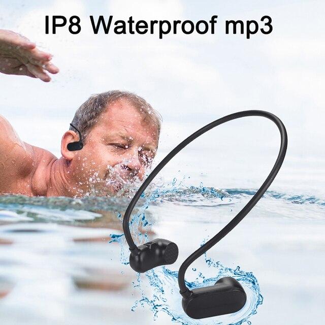 Más APT-X V31 de conducción ósea 8G 16G de alta fidelidad MP3 jugador impermeable natación al aire libre deporte auriculares USB MP3 música los jugadores