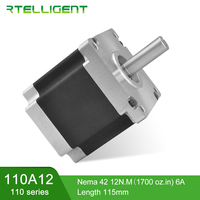 Rtelligent Hight Voltage Nema 42 Stepper Motor 110A12 2 phase 6/6.5A 4 Lead Step Motor CNC Kit Motor Nema42 for CNC machine
