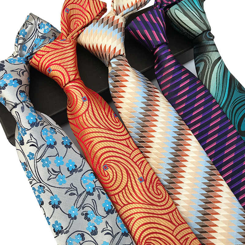 חדש אופנה אביזרי עניבה באיכות גבוהה 8cm גברים של קשרי עבור חליפת עסקי חתונה מקרית חיל הים שחור אדום ורוד כסף כחול עניבה